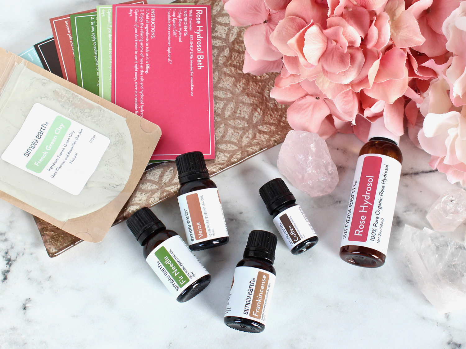 February 2020 Simply Earth Essential Oil Recipe Box
